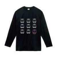 ちこまる長袖TシャツC黒
