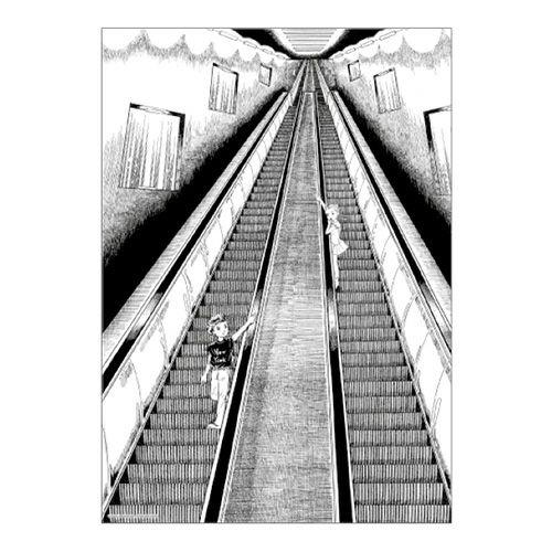 【楳図かずお】絹目写真A4ポスター/私は慎吾04