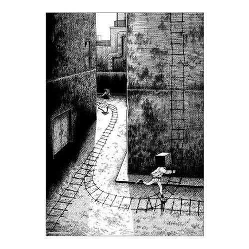 【楳図かずお】絹目写真A4ポスター/私は慎吾05