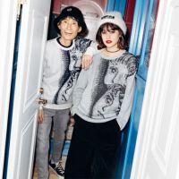 【楳図かずお】X-girl×KAZUO UMEZZ 「わたしは真悟」 CREW NECK KNIT TOP